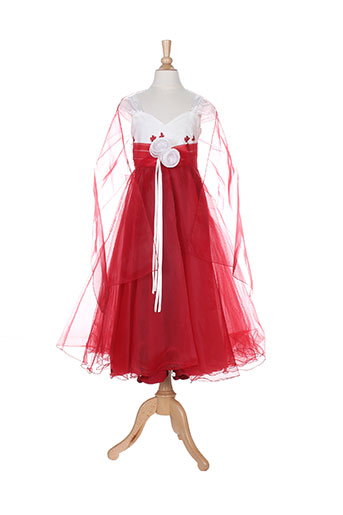 christella robes fille de couleur rouge