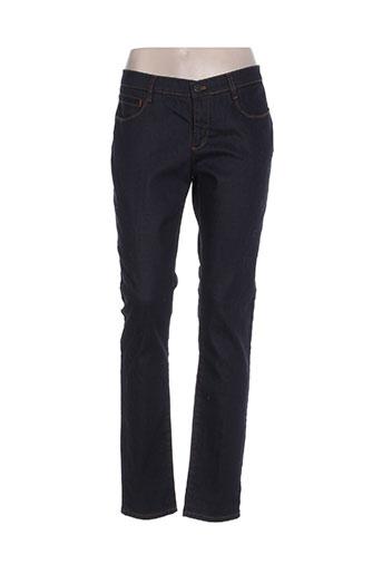 new man jeans femme de couleur bleu