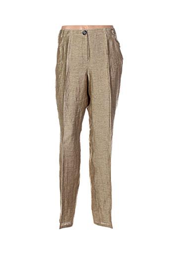 initiative pantalons femme de couleur beige