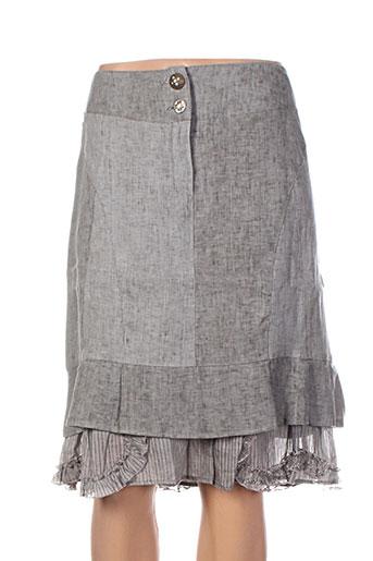 coco menthe jupes femme de couleur gris