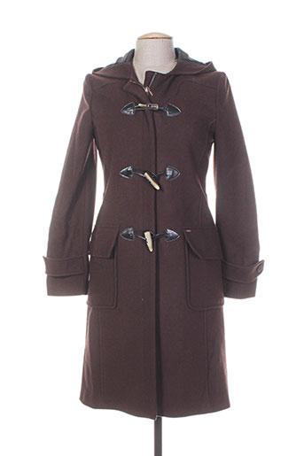chevignon manteaux femme de couleur marron