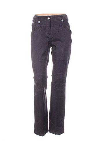 Pantalon casual violet FILLE DES SABLES pour femme
