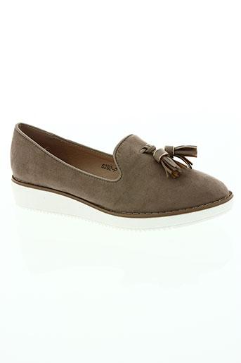 r's chaussures femme de couleur beige