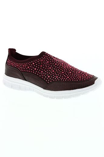 wilady chaussures femme de couleur rouge