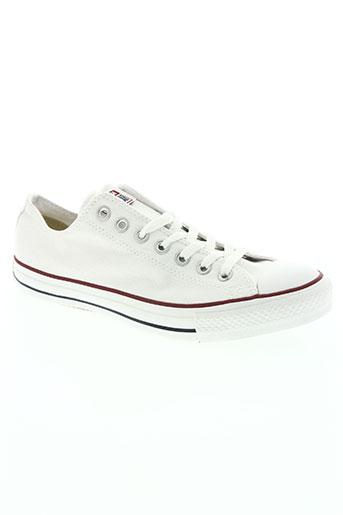 converse chaussures homme de couleur blanc