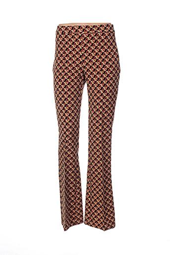 rinascimento pantalons femme de couleur marron
