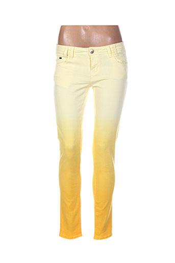 bisou d'eve pantalons femme de couleur jaune
