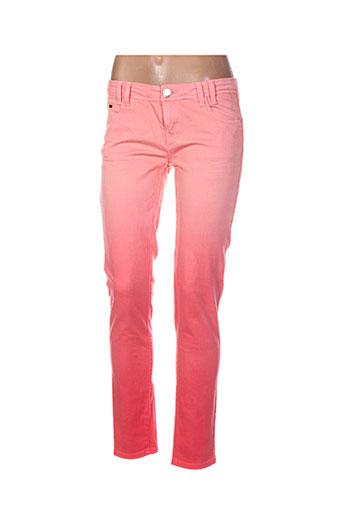 bisou d'eve pantalons femme de couleur orange