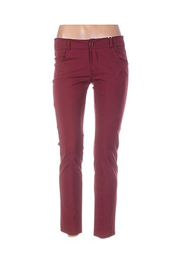rinascimento pantalons femme de couleur rouge