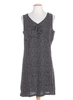 Robe mi-longue noir COTON DU MONDE pour femme
