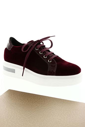 kanna chaussures femme de couleur rouge
