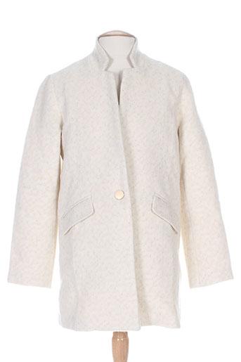 suncoo manteaux femme de couleur blanc