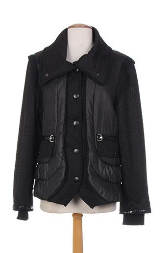 leslie manteaux femme de couleur noir