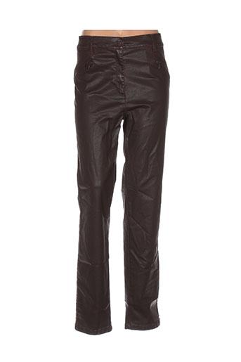 toni pantalons femme de couleur marron