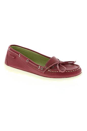 portside chaussures femme de couleur rouge