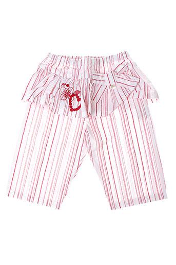 les bebes de floriane pantalons fille de couleur rouge
