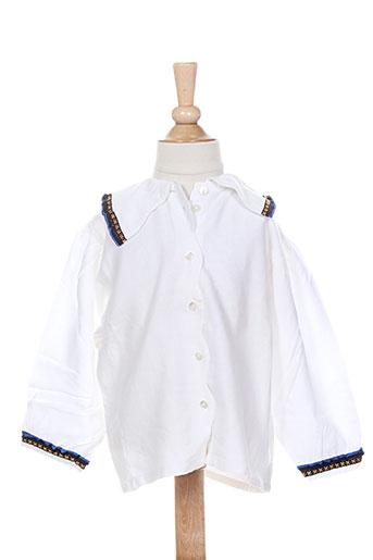 floriane chemises fille de couleur blanc