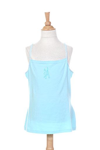 floriane chemises fille de couleur bleu