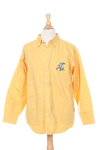 floriane chemises garçon de couleur jaune