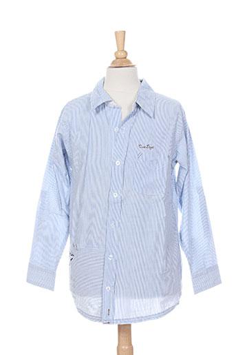 absorba chemises fille de couleur bleu