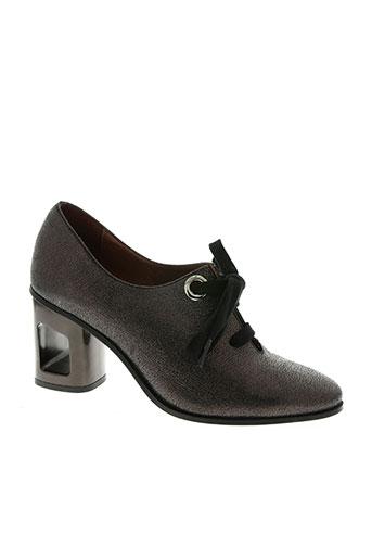 hispanitas chaussures femme de couleur marron