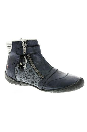 gbb chaussures fille de couleur bleu