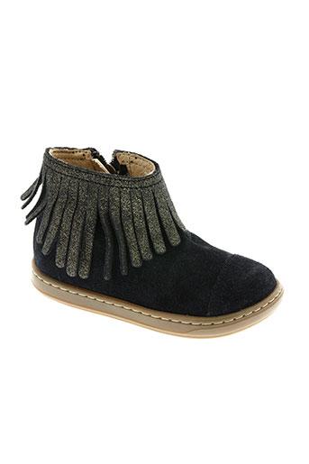 shoo pom chaussures fille de couleur bleu