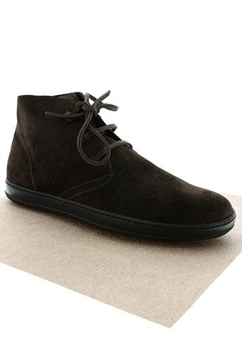 moncler chaussures homme de couleur marron