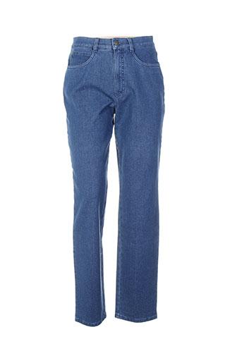 bruno saint hilaire jeans femme de couleur bleu