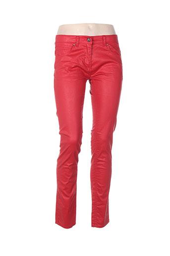 beckaro jeans fille de couleur rouge