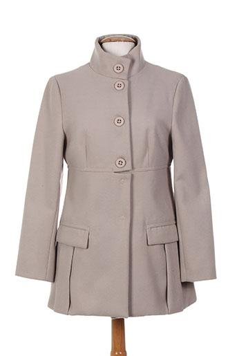 lara manteaux femme de couleur gris