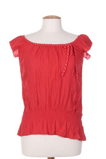 phildar chemises femme de couleur rouge