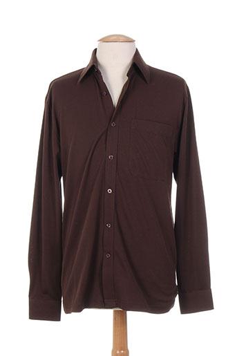 gabicci chemises homme de couleur marron