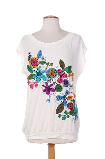 mamatayoe t-shirts femme de couleur blanc