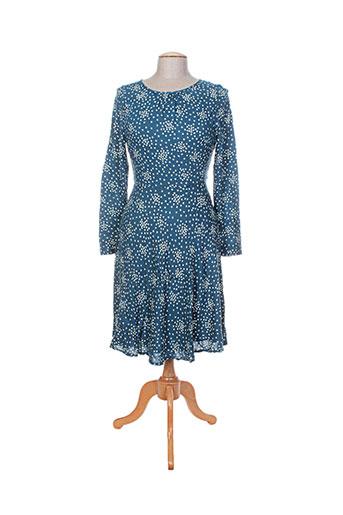 Robe mi-longue bleu EMILYANDFIN pour femme