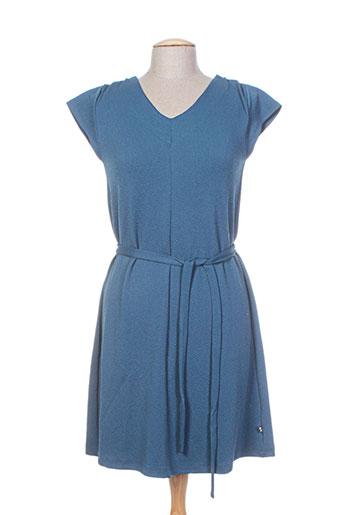Robe mi-longue bleu FROY & DIND pour femme