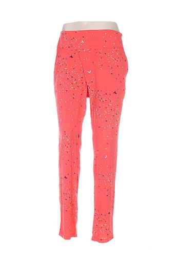 skunkfunk pantalons femme de couleur rouge