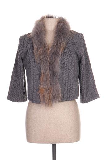 fracomina vestes femme de couleur gris