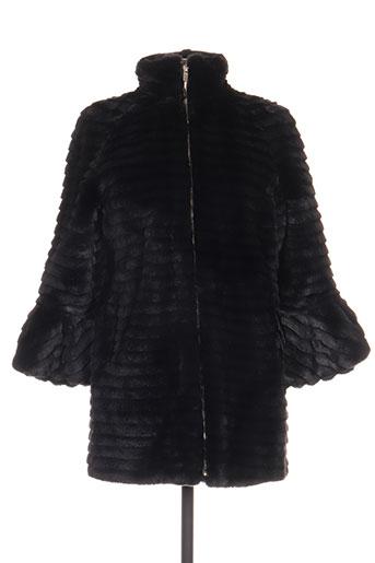 fracomina manteaux femme de couleur noir