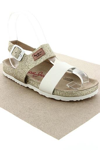 pepe jeans chaussures fille de couleur blanc