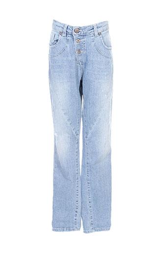 please jeans fille de couleur bleu