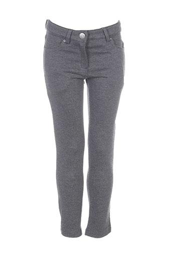 Pantalon casual gris LILI GAUFRETTE pour fille