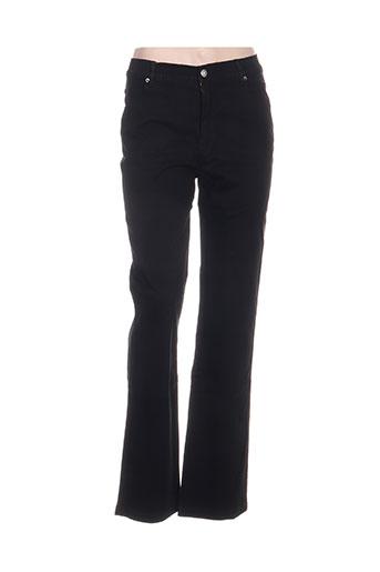 marble pantalons femme de couleur noir