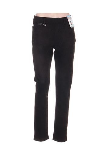 s.quise pantalons femme de couleur noir