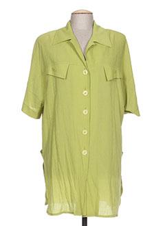 Tunique manches courtes vert CLAUDE BAUER pour femme