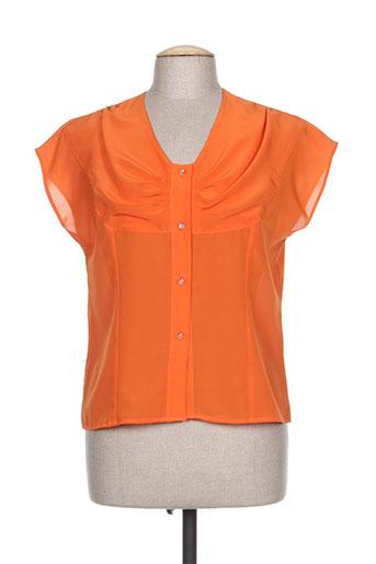 brigitte saget chemises femme de couleur orange