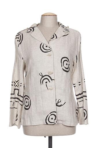 coco menthe chemises femme de couleur beige
