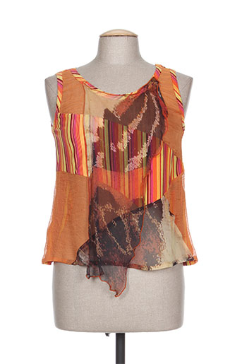 Top orange CLAUDE BAUER pour femme
