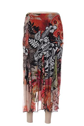 chassagnard jupes femme de couleur rouge