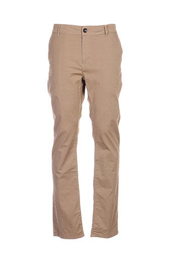 chefdeville pantalons homme de couleur beige